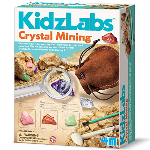 4M Kidzlabs Crystal Mining Kit - DIY Geology Science Dig...