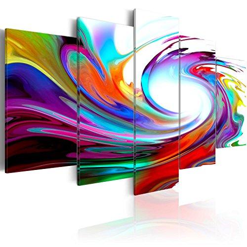murando - Cuadro en Lienzo 200x100 cm Abstracto Impresión de 5 Piezas Material Tejido no Tejido Impresión Artística Imagen Gráfica Decoracion de Pared Arte 020101-234