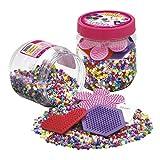 Hama - 2051 - Loisirs Créatifs - Pot 4000 Perles à Repasser + 3 Plaques -...