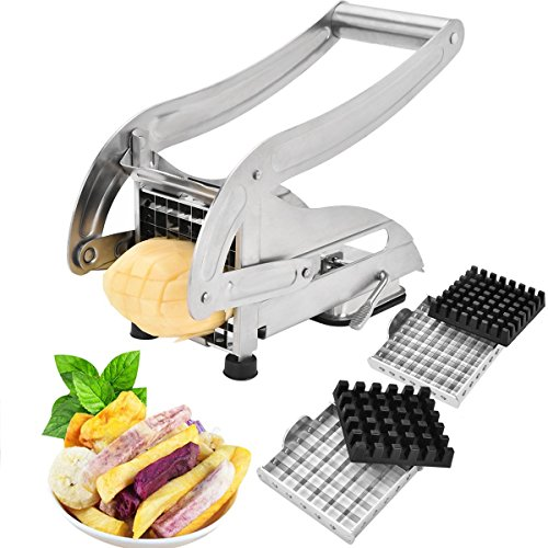 French Fry Cutter-Professsional Potato Slicer Vegetable...