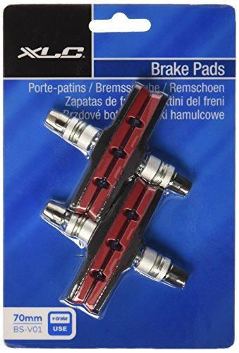 XLC Unisex– Erwachsene Bremsschuhe V-Brake BS-V01 4er Set 70 mm, Rot, Schwarz, One Size
