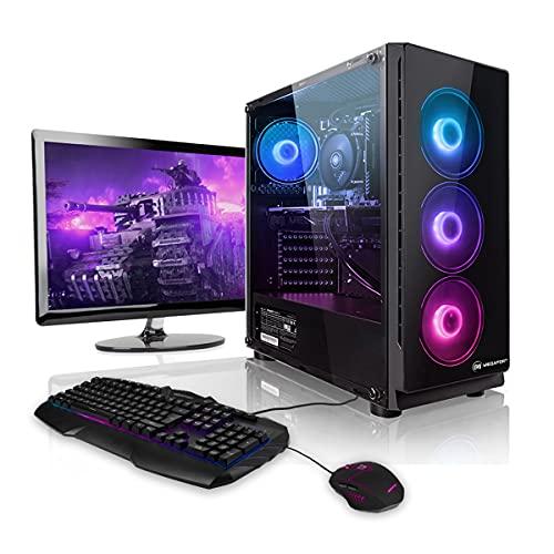 "Megaport Gaming-PC Komplett-PC AMD Ryzen 5 3600 6X 3.6 GHz • 24"" Bildschirm + Tastatur + Maus • GTX1660 6GB • 16GB 2400 DDR4 • Windows 10 • 1TB • WLAN Gamer pc Computer Gaming pc komplettsystem"