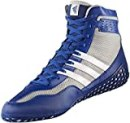 adidas Mat Wizard Men's Wrestling Shoes, Royal/White/Grey, Size 10