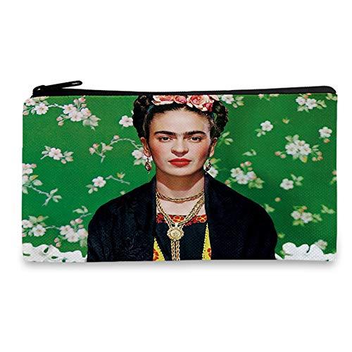 Frida Gifts - Estuche de lona para guardar lápices, monedero y bolsa de maquillaje, color B 18cm x 10.5CM