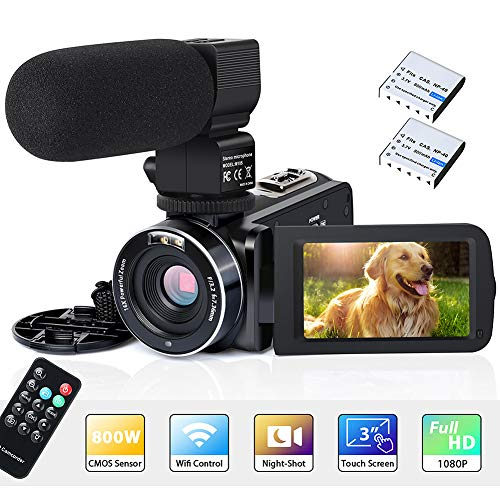 Videocamera Digitale Full HD 1080P 26MP 30FPS 3 '' Touch Screen LCD WIFI IR Visione notturna...
