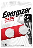Energizer CR2450 Piles Bouton au Lithium, Lot de 2