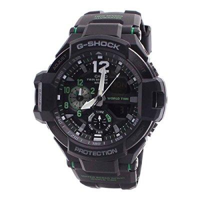 Casio G-Shock Men's GA-1100 Gravitymaster Watch, Black/Silver, One Size
