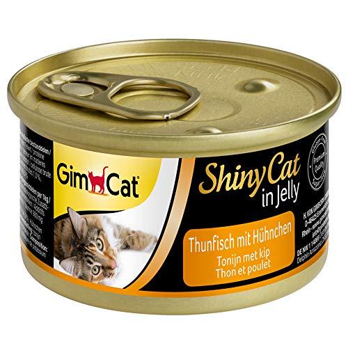 GimCat ShinyCat in Jelly Thunfisch mit Hühnchen - Nassfutter mit Fisch und...