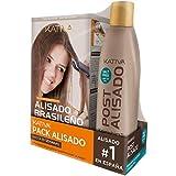 Kativa Pack Ahorro Kit Alisado Brasileño com Champú Post Alisado - Tratamiento Alisado Profesional...