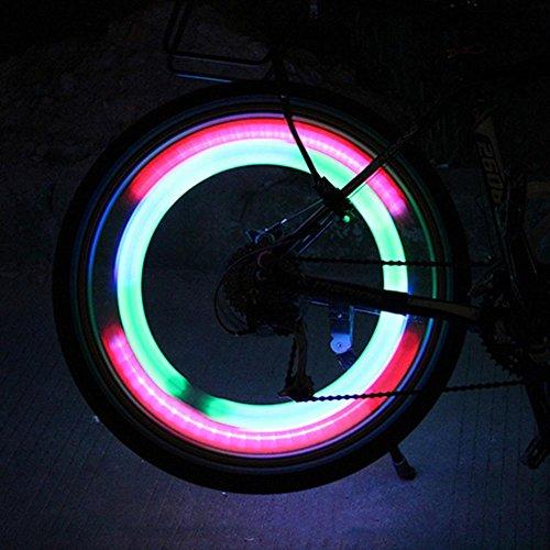 UEB Luce Raggi Bicicletta a Forma di Salice a LED Luci Bicicletta LED Impermeabile Luce Ruote Bici...