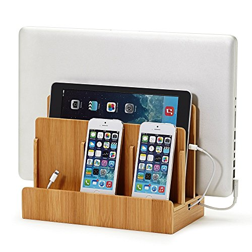 Eco Bamboo Multi-Device Charging Station Dock & Organizer - Multiple Finishes Available. for Laptops, Tablets, and Phones | GUS San Francisco CA