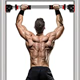 KUCATE Pull Up Bar for Doorway, Chin Up Bar No Screw with Locking Mechanism Doorway Pullup Bar Home Gym Exercise Equipment Strength Training Upper Body Workout Bar(29.1'~37.4' Adjustable Width)