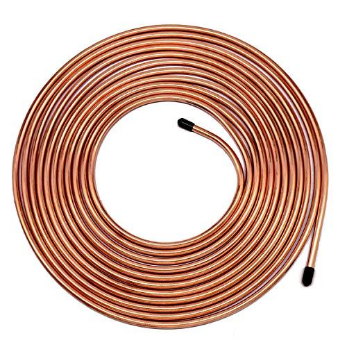 25 ft 3/16' Brake Line Tubing - Muhize Flexible 25 Ft. of 3/16 Copper Tube Roll