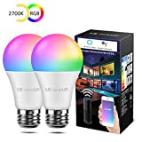 LE Lampadina LED Intelligente WiFi E27 RGBW 9W, Equivalente a 60W, Lampadina Smart
