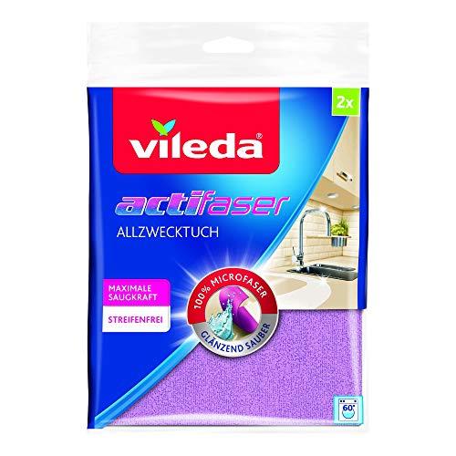 Vileda Actifibre Panni Microfibra Ultra Assorbente, 2 Pezzi