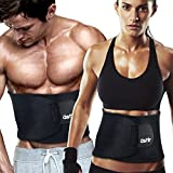 """Astir Waist Trimmer Ab Belt For Women & Men•Extra Long (44""""), Extra Wide (9""""), & Extra Flexible Sweat Belt with Maximum Abdominal Coverage•Non-Slip Surface for Max Waist Slimming•"""