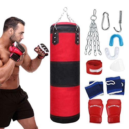 Fansport Boxsack Set UngefüLlte Boxsack Mit ThailäNdischem Trainingshandschuh Mundschutz
