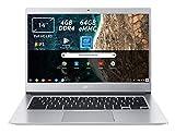 Acer Chromebook 514 CB514-1H-C0N4 Notebook Portatile, Intel Celeron Quad Core N3450, RAM 4GB DDR4, eMMC 64GB, Display 14' IPS Full HD LED LCD, Intel HD...