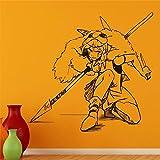 wZUN Anime Tatuajes de Pared Princesa niños Etiqueta de la Pared decoración del Arte del hogar Oficina Mural de Vinilo extraíble 40X40 cm