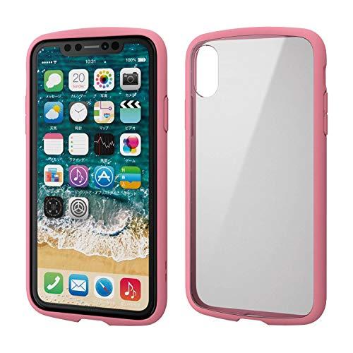 エレコム iPhone XR ケース 耐衝撃×フレーム TOUGH SLIM LITE [背面クリアタイプ] ピンク PM-A18CTSLFCPN