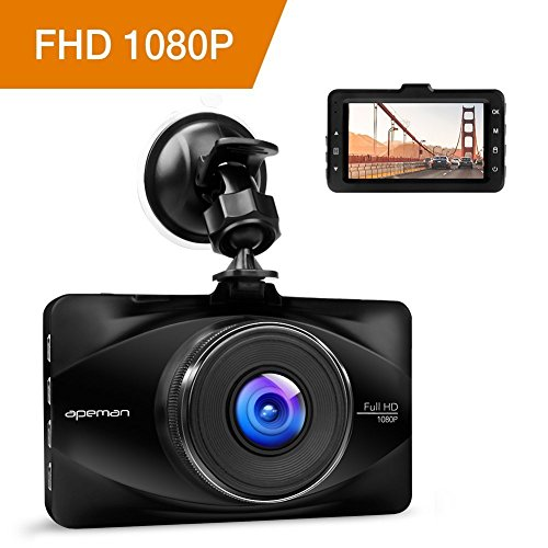 """apeman Dashcam Car Camera Full HD 1080P DVR with 170° Wide Angle, 3\"""" LCD Screen, G-Sensor, WDR, Loop Recording, Motion Detection, Parking Monitor"""