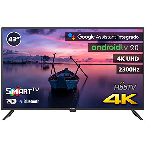 INFINITON INTV-43MA1300 – Televisor Smart TV 43' 4K UHD – Android 9.0 Google – HBBTV – 4X HDMI – 3X USB - DVB-T2/C/S2 - Modo Hotel – Clase A+