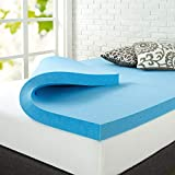 ZINUS 3 Inch Green Tea Cooling Gel Memory Foam Mattress Topper / Cooling Gel Foam / CertiPUR-US Certified, King