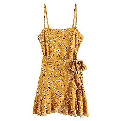 Size information:Different styles of dress size will vary, please refer to the detailed size chart before purchase.1 size up is recommended for plump shape Material: Cotton,Polyester ,very soft and comfortable to your skin Features: Spaghetti straps,...