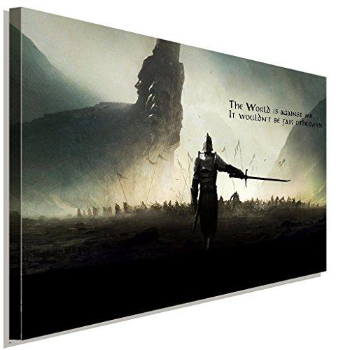 Dark Souls Warrior Battlefield Leinwandbild LaraArt Studio Wanddeko Wandbild 100 x 70 cm