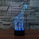 3D LED lamp Table lamp Luminarias Lighting Flash giraffe lamp LED Desk Lava Decoration toy night light child