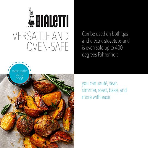 Product Image 6: Bialetti Textured Nonstick 10-Piece Oven-Safe Cookware Set, Gray Impact