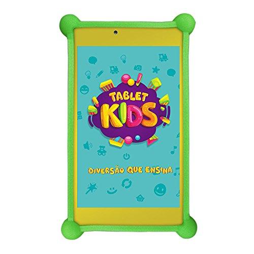 Tablet Kids com Capa Bumper, DL, TX394BBV, 8GB, 7'', Branco