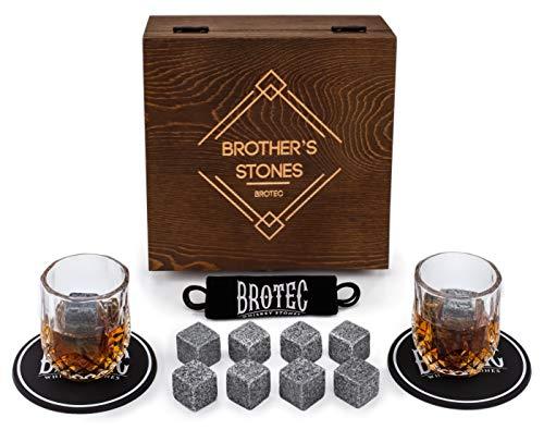 Whiskey Stones Gift Set - 8 Chilling Whisky Rocks - Scotch...