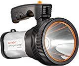 Bright Rechargeable Searchlight Portable Handheld Flashlight LED Tactical Flashlight with Handle CREE L2 Spotlight 6000 Lumens Ultra-long Standby Electric Torch with USB OUTPUT as Outdoor Power Supply