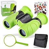 Monte Stivo ® Junior | Binocolo per Bambini 8X21 | Leggero Compatto | Kit Regalo per Piccoli esploratori da 4 a 12 Anni (Verde)