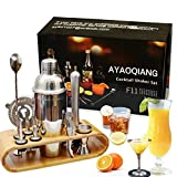 AYAOQIANG Shaker à Cocktail,Shaker Cocktail Professionnel 12 Pièces,Cocktail Shaker 750ml Kit...