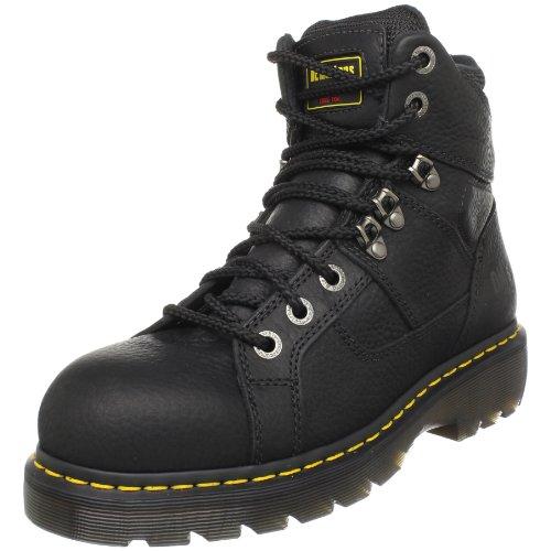 Dr. Martens, Men's Ironbridge Steel Toe Heavy Industry Boots, Black, 4 M US