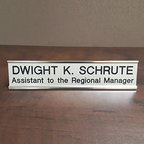 Dwight K. Schrute Gag Gift Desk Name Plate