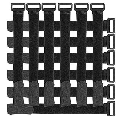 fascette serracavo da 10 pezzi - Ideale per sistemare Cavi Pc, TV - Colore: Nero