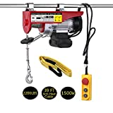 LIMICAR 2200LBS Overhead Lift Electric Hoist Crane Garage Ceiling Pulley Winch Remote Control Power System with Premium Straps 6.6'x3' Lift Sling