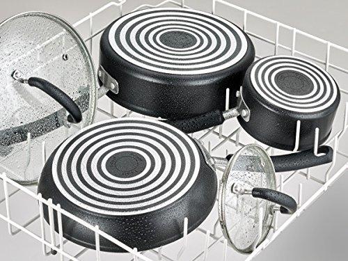 Product Image 8: T-fal C561SC Titanium Advanced Nonstick Thermo-Spot Heat Indicator Dishwasher Safe Cookware Set, 12-Piece, Black