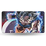 Decorative Car Front License Plate for Women Girls Men Boys - Dragon Ball Z Anime Goku Cosplay High Gloss Aluminum License Plate Novelty Auto Car Tag Vanity Gift - 6 X 12 Inch