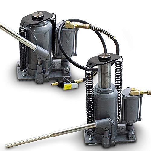 BITUXX® Hydraulischer Stempelwagenheber Pneumatischer LKW Heber Druckluft bis 20T Manuell oder mit Kompressor Unterstützung