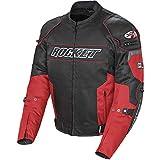 Joe Rocket 1460-1104 Resistor Men's Mesh Motorcycle Jacket (Red/Black, Large)