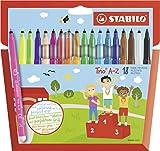 Feutre de coloriage - STABILO Trio A-Z - Étui carton x 18 feutres pointe...
