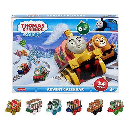 Il Trenino Thomas- Calendario dell'Avvento con 24 Mini Trenini Giocattolo per Bambini 3+Anni, GLK98