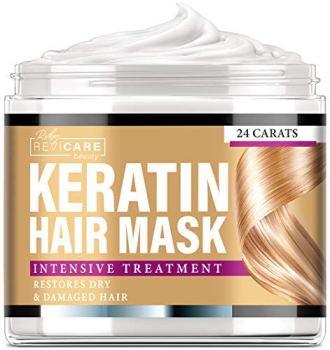 Keratin Hair Mask - Intensive Treatment - Effective Keratin Treatment with Coconut Oil, Retinol & Aloe Vera - Made in USA - Moisturizing Anti Frizz Hair Mask - Powerful Keratin Complex