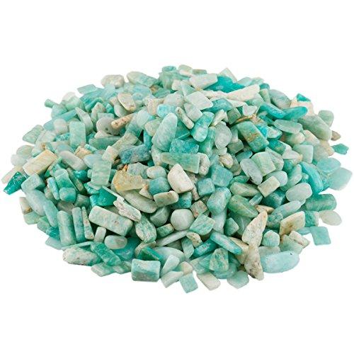 SUNYIK Amazonite Tumbled Chips Stone Crushed Crystal Quartz...