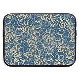Funda para portátil con Flores abstractas, maletín Impermeable y Plegable para portátil, Estuche de Viaje Suave para Tableta, de Neopreno, de 13 Pulgadas