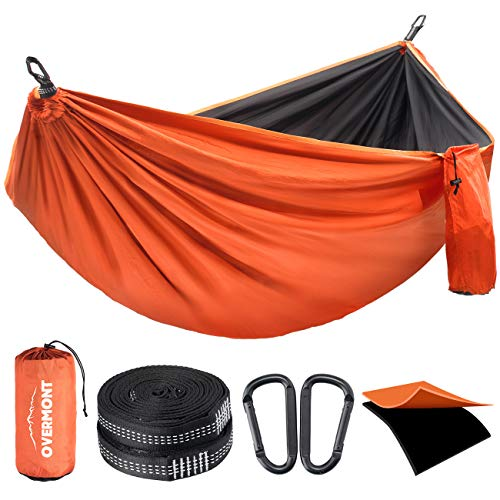Overmont Double Layers Outdoor Hammock for Two German TUV...